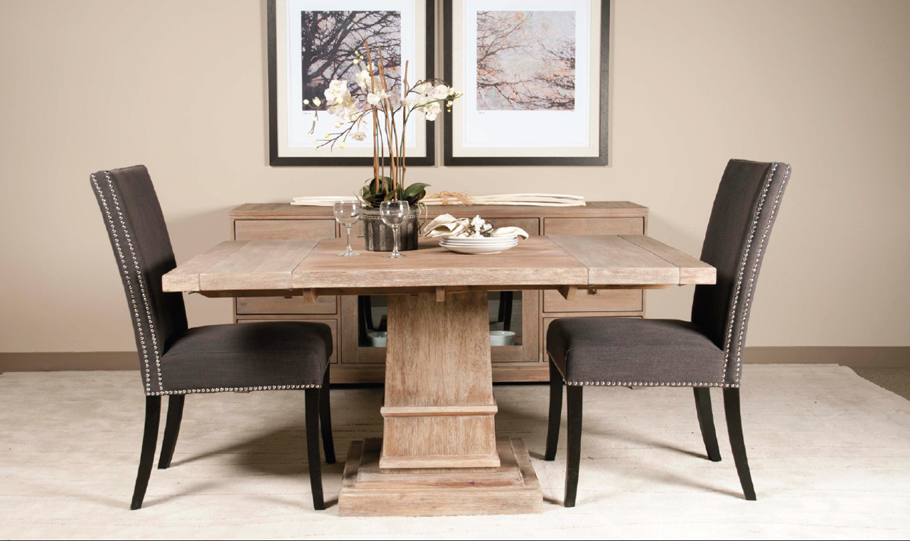 Hudson 44 Quot Square Extension Dining Table Zin Home