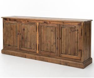 Salvaged Wood 4 Door Buffet Sideboard