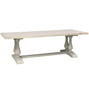 """Chateau Reclaimed Wood Double Trestle Dining Table 98"""""""