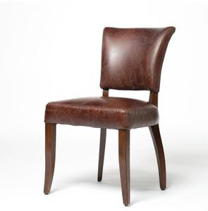 Mimi Biker Tan Leather Dining Chair