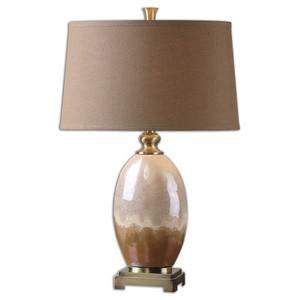 Eadric Antiqued Gold Ceramic Table Lamp