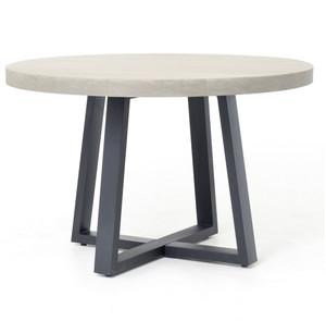 """Masonry Concrete 48"""" Round Dining Table"""