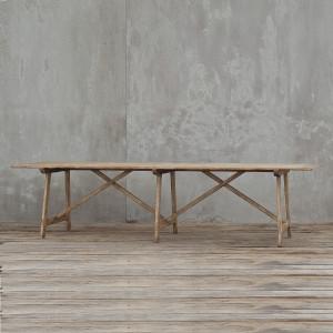 """Van Thiel Solid Walnut Dining Room Table 121"""""""