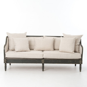 Baroness Josephina's Linen Upholstered Sofa