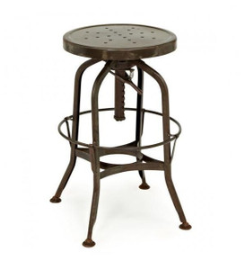 Toledo Rustic Adjustable Industrial Bar Stool  sc 1 st  Zin Home & Industrial Rustic Counter Stool | Zin Home islam-shia.org