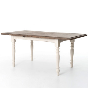 Cottage White Extension Dining Room Table 71""
