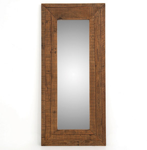 Farmhouse Rustic Reclaimed Wood Large Floor Mirror