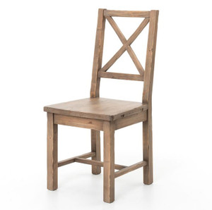 Coastal Rustic Solid Wood Dining Room Chair
