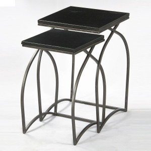 Ever Black Marble Top Nesting Tables