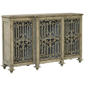 Chateau Villandry Antique French Gray Sideboard Buffet