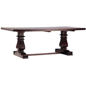 Lauren Dark Wood Trestle Extension Dining Table 120""