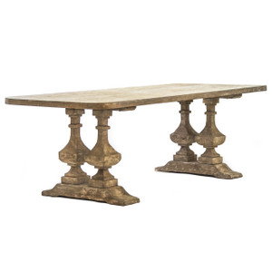 Salvaged Wood Double Trestle Dining Table 76 Quot Zin Home