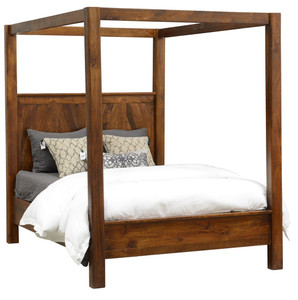 Kosas Solid Wood Queen Canopy Bed Frame