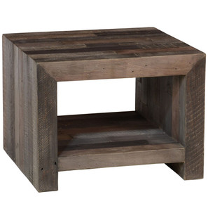 Angora Storm Reclaimed Wood End Table