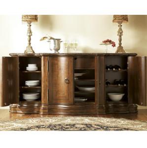 Bolero Castile Marble Top Credenza Buffet with Wine Storage