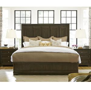 California Rustic White Oak Queen Panel Bed