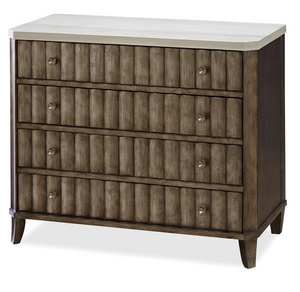 California 4 Drawer Accent Chest with Stone Top