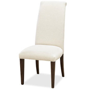 California Rustic Oak Parsons Dining Side Chair