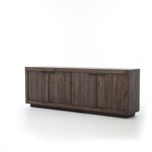 Couric Rustic Wood 4 Door Sideboard