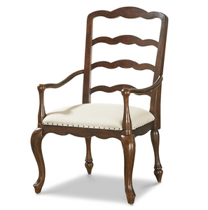 Sonoma Vintage Brown Upholstered Dining Arm Chair
