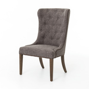 Elouise Upholstered Dining Chair with Nailheads-Charcoal