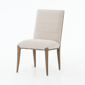 Nate Upholstered Oak Dining Chair with Nailheads