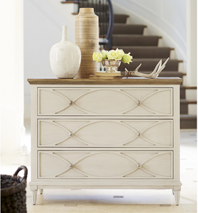 French Modern Light Wood 3 Drawers Bedside Chest