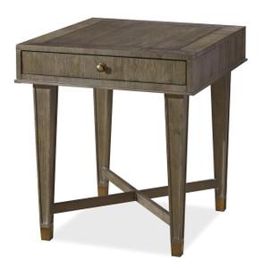 Playlist Vintage Oak 1 Drawer End Table