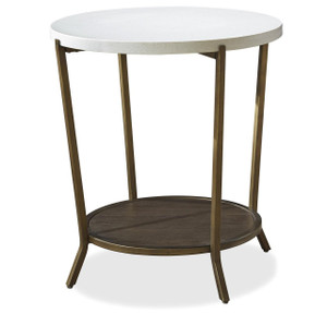 Playlist Stone Top Round End Table