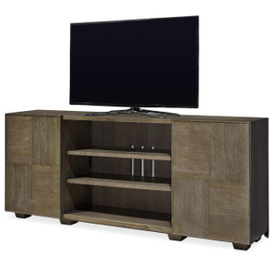 Playlist Vintage Oak Media Console with Sliding Doors