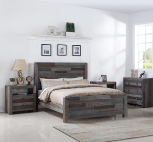 Angora Reclaimed Wood King Size Platform Bed