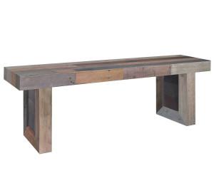 "Angora Reclaimed Wood Trestle Dining Bench 71"""