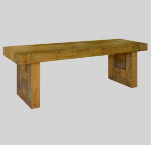 "Angora Natural Reclaimed Wood Dining Bench 71"""