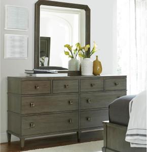 Playlist Vintage Oak 8 Drawers Dresser with Mirror