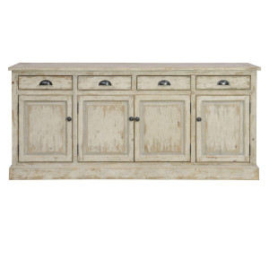 Chateau 4 Door 4 Drawers Buffet Sideboard- Antique White