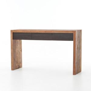 Tylor Reclaimed Peroba Wood 3 Drawer Console Table