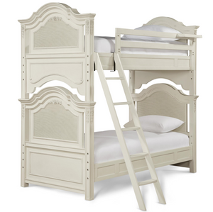 Rosalie Kids Twin Over Twin Bunk Bed - White