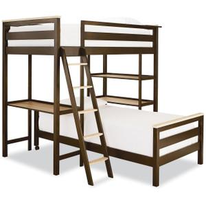 #MyRoom Modern Kids Twin Metal Loft Bunk Bed
