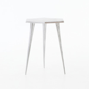 Hex Aluminum Side Table