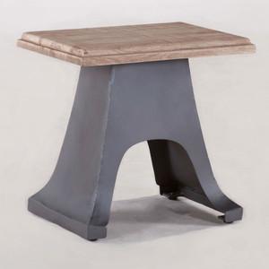 Bethlehem Steampunk Industrial Steel + Wood Stool