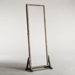 Bethlehem Steampunk Industrial Steel + Wood Floor Mirror