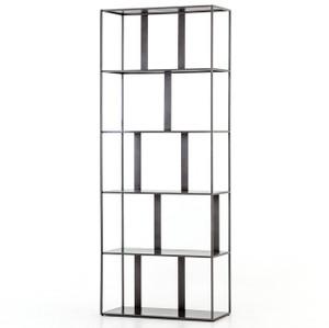 Waterloo Industrial Iron Geometric Bookshelf