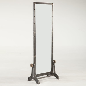Steampunk Industrial Steel Floor Mirror