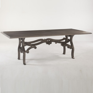 """Hobbs Dutch Industrial Iron & Wood Dining Table 90"""""""