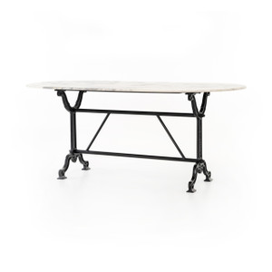 """Ava Marble Dining Table 72"""""""