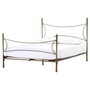 Alberto Antique Brass Queen Bed Frame