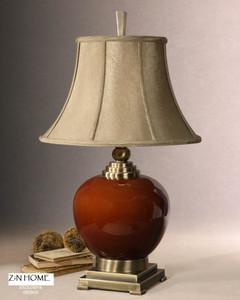 Daviel Red Ceramic Table Lamp
