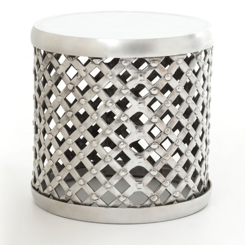 Marlow Aluminum Drum Stool Side Table  sc 1 st  Zin Home & Marlow Aluminum Drum Stool Side Table | Zin Home islam-shia.org