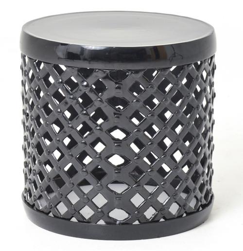 Marlow Black Drum Stool Side Table  sc 1 st  Zin Home & Marlow Aluminum Drum Stool Side Table | Zin Home islam-shia.org