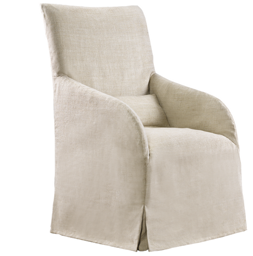 skirted wingback chair dining chairs upholstered fabric linen leather chairs zin home